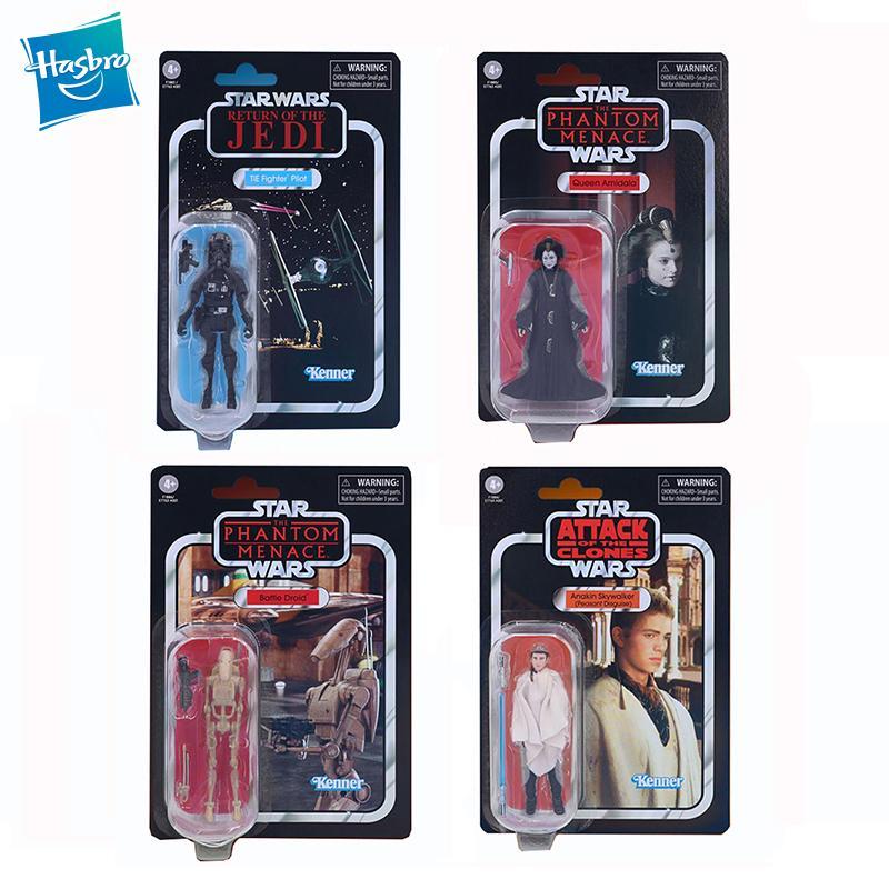Hasbro-figuras de acción de Star Wars para niños, colección Vintage Mandalorian de...