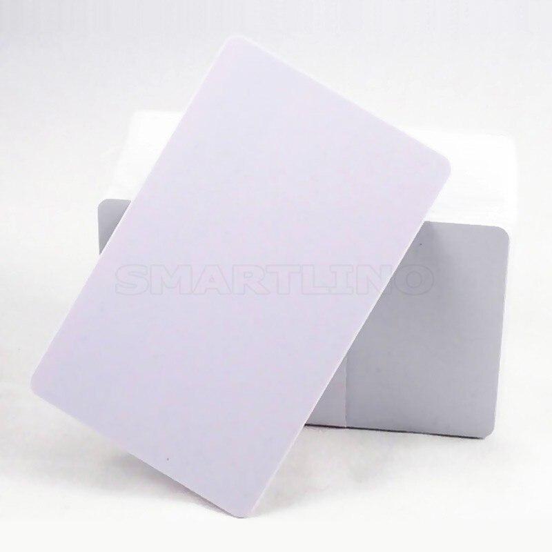 10 unids/lote 13,56 MHZ NTAG215 NFC inyección de tinta imprimible en blanco RFID PVC tarjeta inteligente etiqueta NFC tarjeta para impresora Epson o Canon