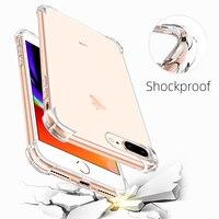 Противоударный чехол для телефона, Ультратонкий Прозрачный чехол для iPhone 11 12 Pro X XS Max, прозрачный силиконовый чехол для iPhone 6 7 8 Plus, задняя кры...