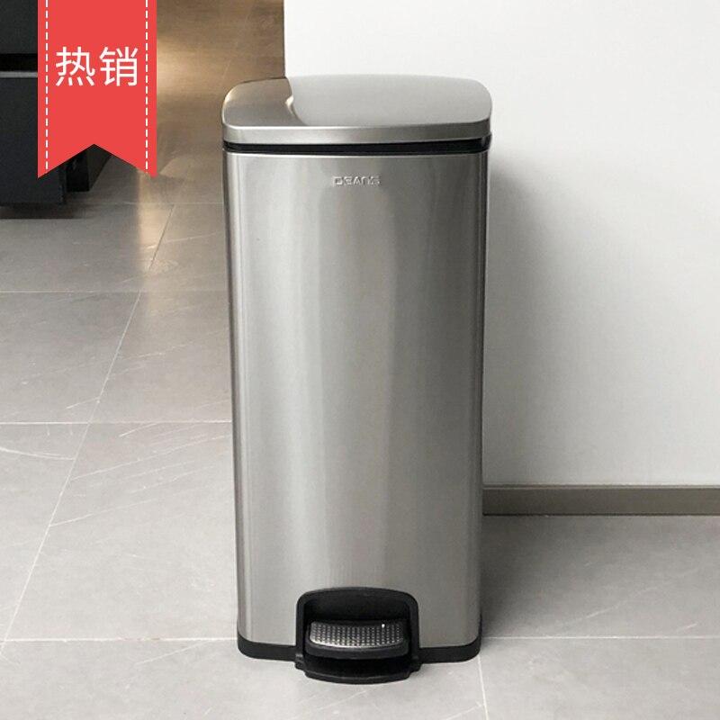 Garbage Vacuum Trash Can Kitchen Car Bin Office Bathroom Basket Storage Toilet Lid Poubelle Household Merchandises BY50LJ enlarge