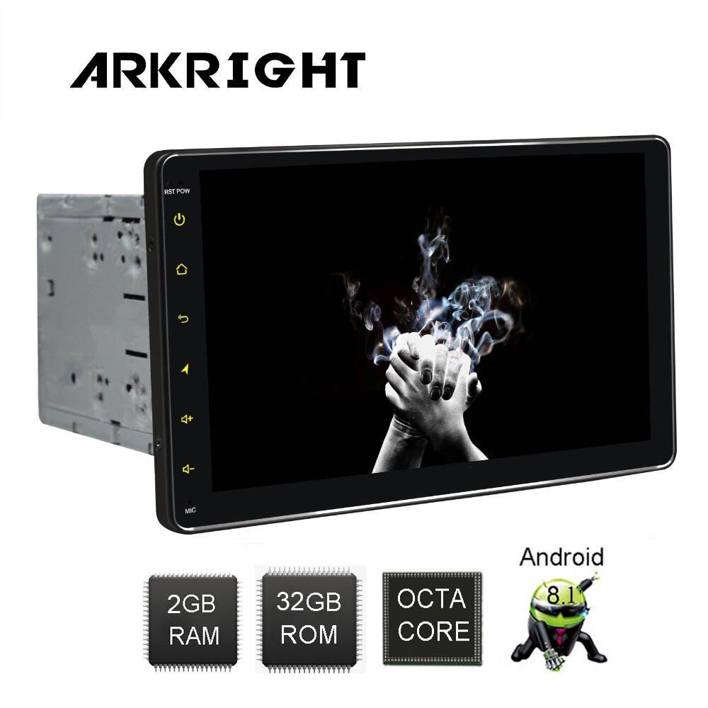 "ARKRIGHT 9 ""2 Din 2GB + 32GB HD Android 8,1 autoradio Wifi/GPS/Bluetooth universal para coche Radio Multimedia reproductor de música con DSP RDS"