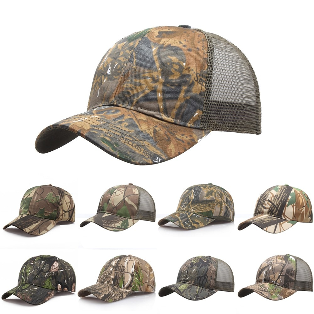 2021 New Tactical Cap Outdoor Sport Snapback Stripe Caps Camouflage Hat Simplicity Military Army Camo Hunting Cap