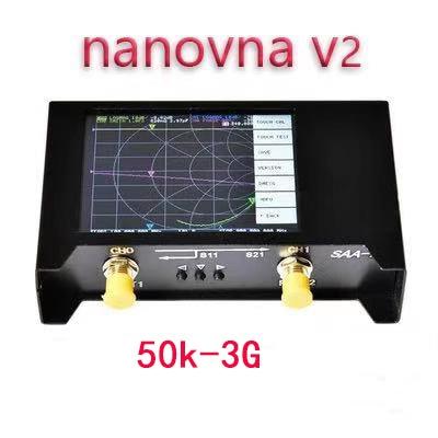 محلل شبكة ناقلات VNA HF VHF UHF UV, محلل شبكات NanoVNA V2/ SAA2 3G إصدار VNA HF VHF UHF UV محلل هوائي مع حقيبة تخزين EVA