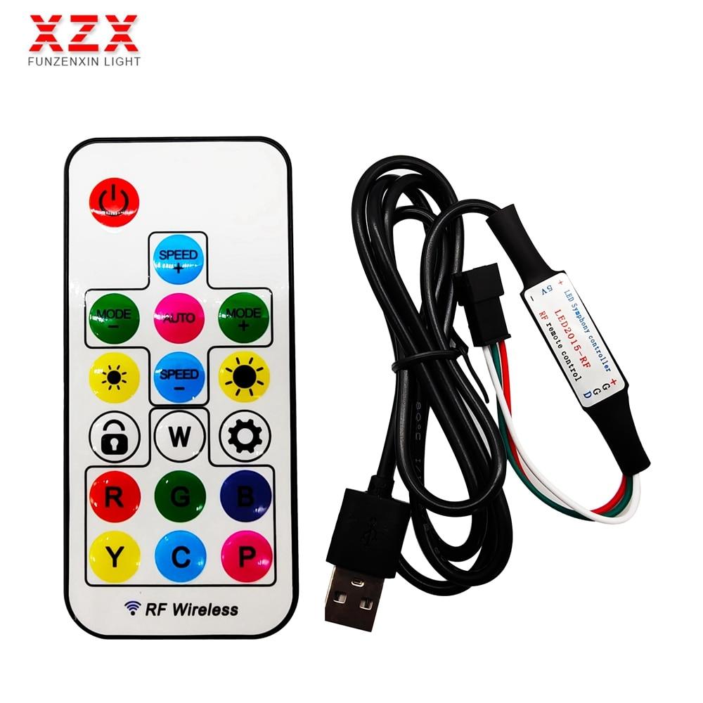 RF 17Keys USB Wireless Smart Remote Controller For WS2812B WS2811 Individually Addressable RGB Magic