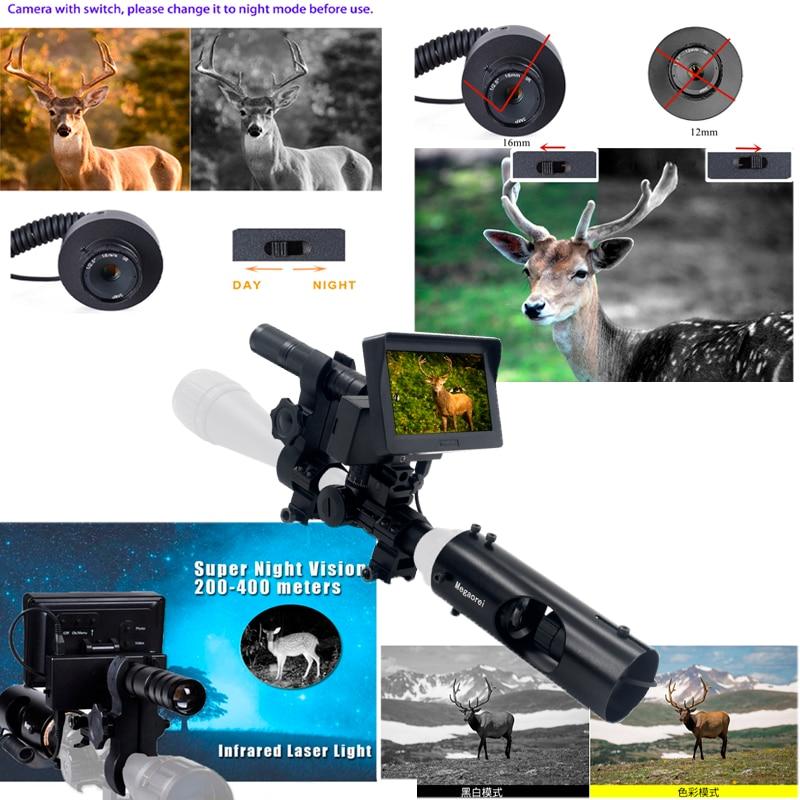 400m Night Vision Binoculars 3mp Sensor 5w Laser IR 25.4mm and 30mm Rifle Scope Shock Waterproof Infrared Telescope For Hunting enlarge