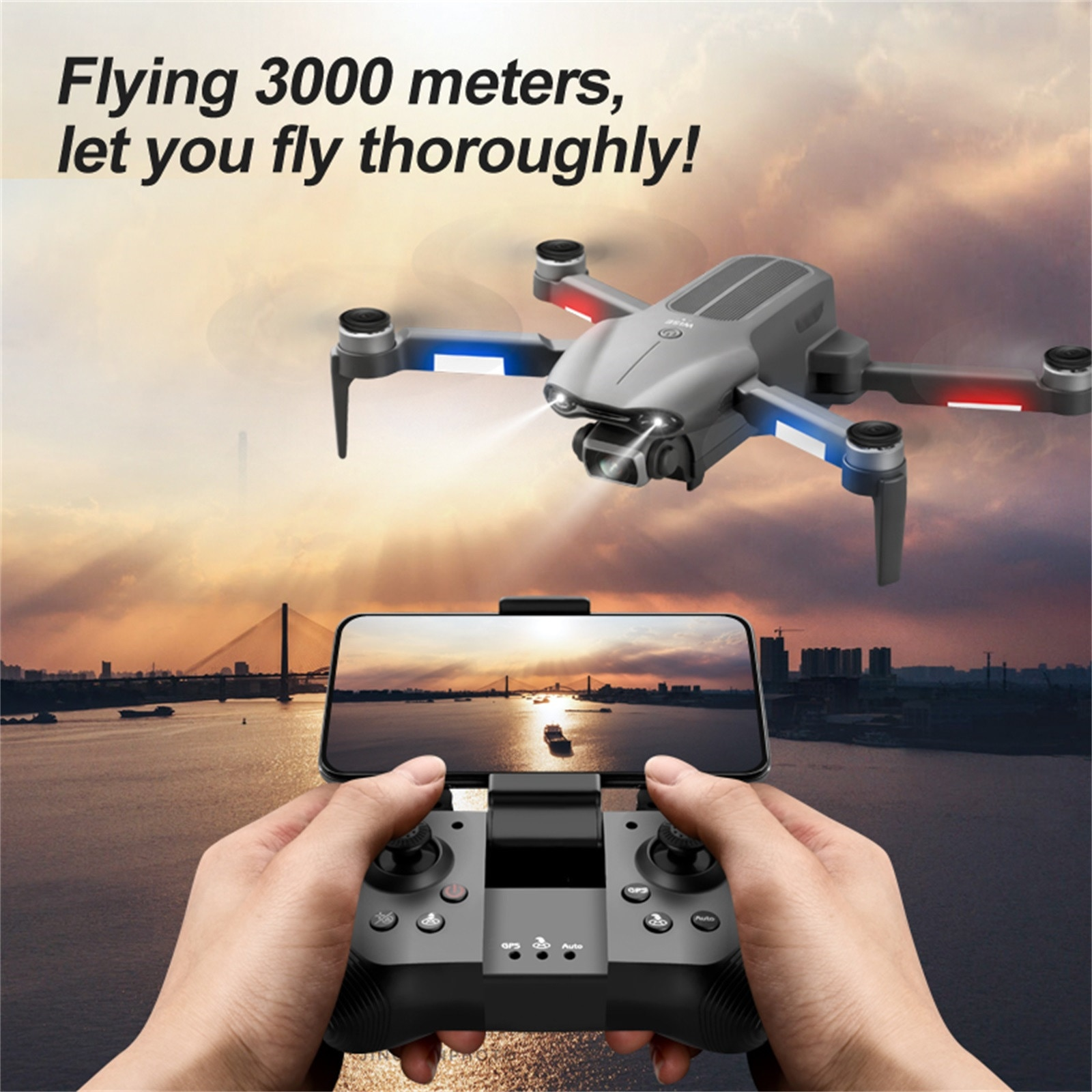 F9 GPS Drone 6K Camera Dual HD Professional Aerial Photography Brushless Foldable RC Quadcopter Remote Distance 3000M Dron enlarge