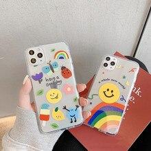 Śmieszne słodkie etui na telefon do Samsung S20 S10 S8 S9 plus S10e a50 A51 A71 A70 S7 A5 a8 a9 a30 a80 a90 uwaga 8 9 10 plus miękka okładka