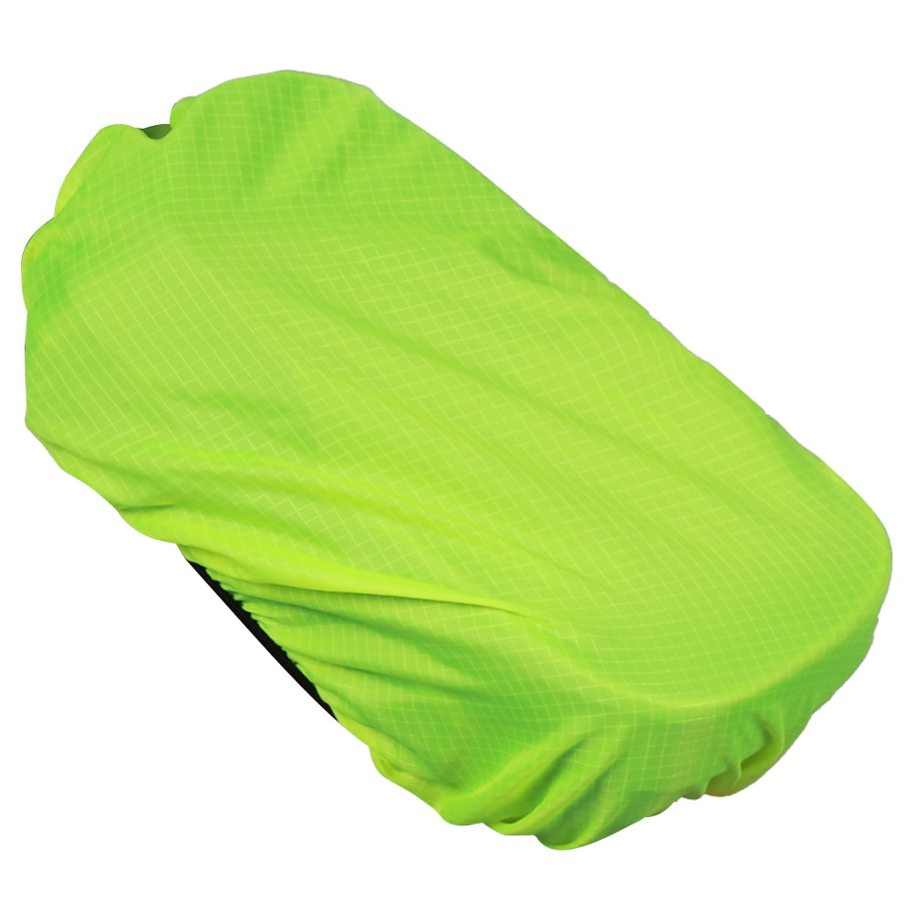 À prova dwaterproof água bicicleta guiador saco do telefone capa mtb bicicleta sela saco capa de chuva 190t forro pano 185x110mm verde fluorescente