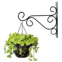 50 hot sale new european style metal wall hanging flower pot hook iron hanger plants garden balcony decor planter holder