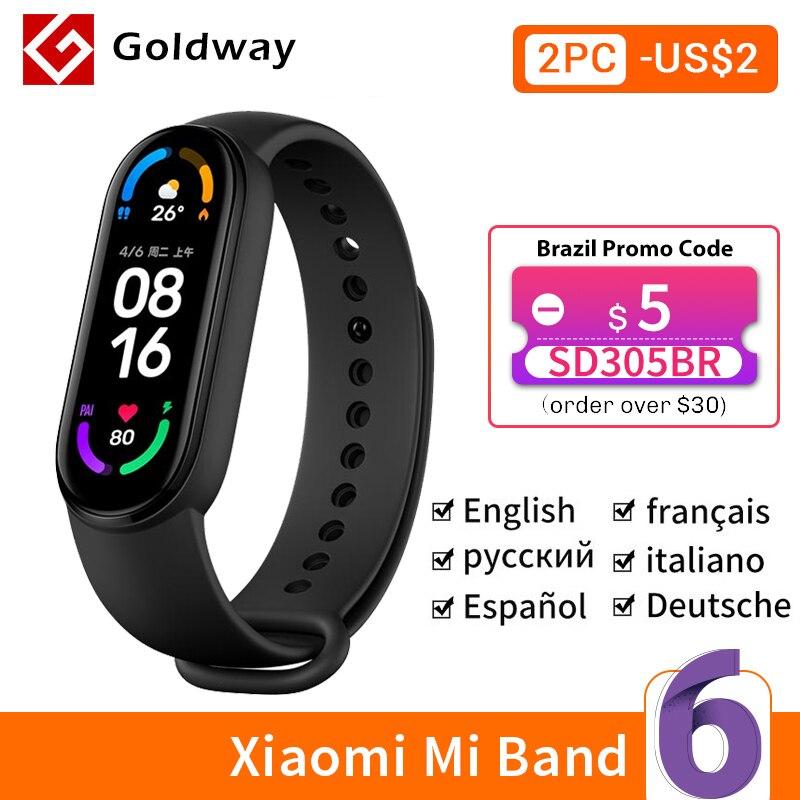 Xiaomi mi Band 6 умный браслет 5 цвета AMOLED экран miband 6 Smartband Кислород крови фитнес браслет Bluetooth спортивный водонепроницаемый смарт браслет|Смарт-браслеты|   | АлиЭкспресс