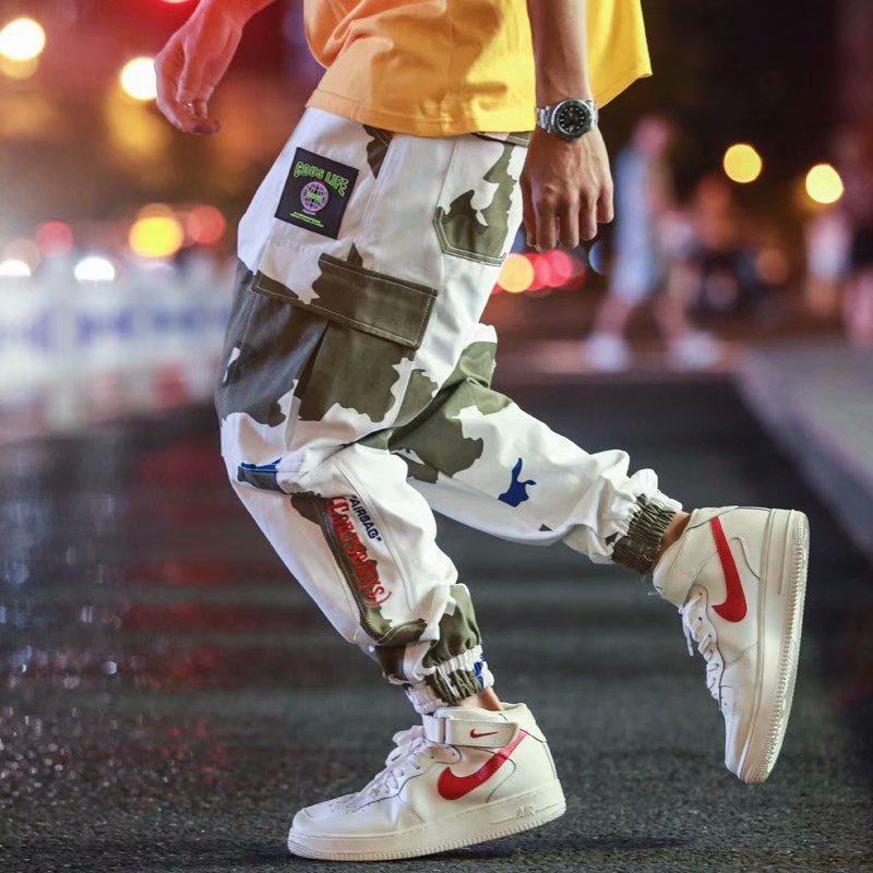 Top de camuflaje pantalones de los hombres casuales de moda de Color...