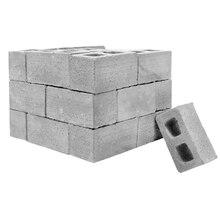 Classe denseignement mur ciment jouet nouveau 32 pièces Mini ciment cendres briques construire votre propre mur minuscule Mini briques rouges gris