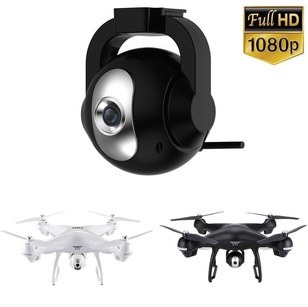 Atualizado 1080p hd completo 90 ° ajustável 120 ° wide-angle wi-fi zangão câmera para holystone hs100 & sirc s70w