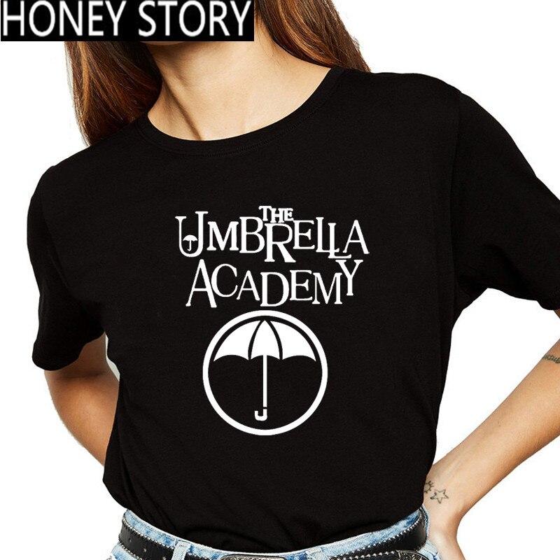 Novo o guarda-chuva academia preto t camisa feminina kawaii diego engraçado camiseta cha-cha gráfico t camisas femme moda unisex tshirt