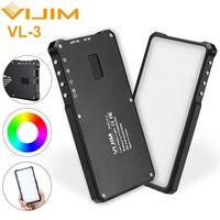 VIJIM VL-3/VL120 полноцветная светодиодная лампа RGB для видеосъемки, студийная лампа для фотокамеры Canon, Nikon, Sony, DSLR, Vlog, заполняющий свет