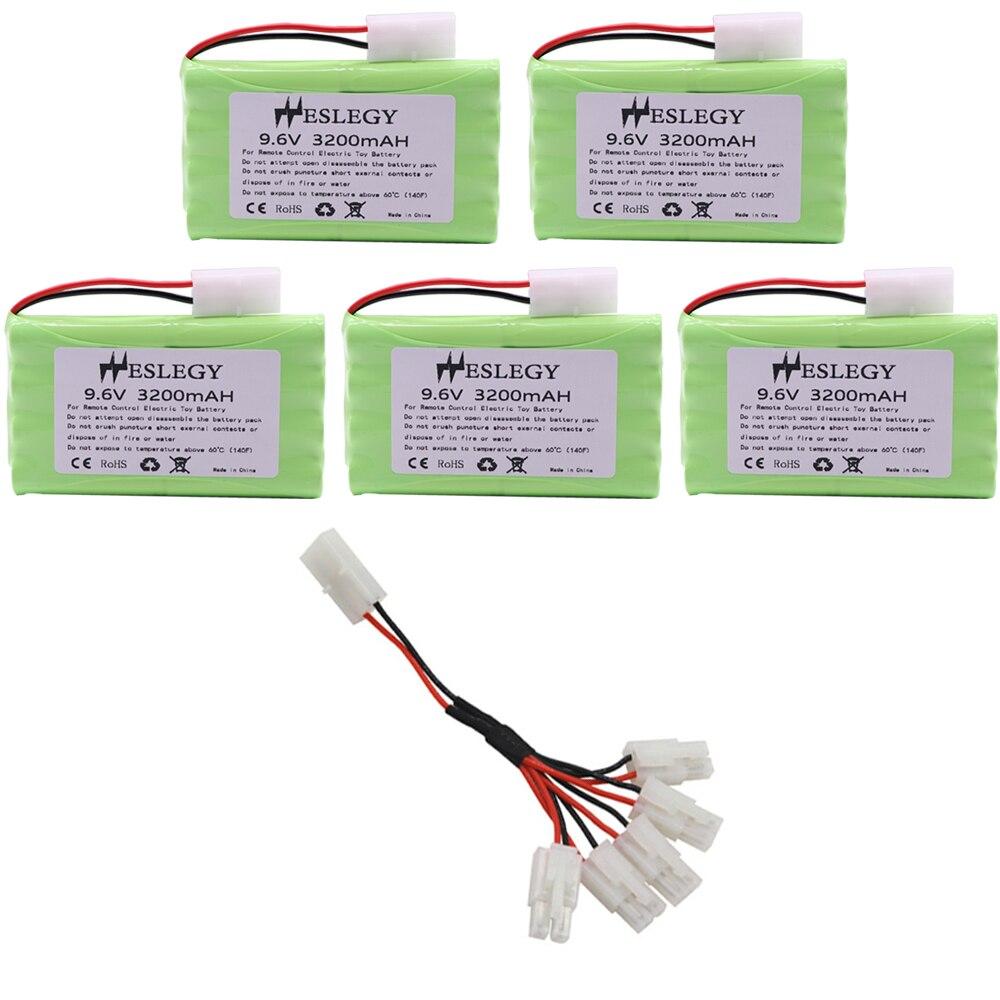 Atualizar 9.6 v 3200 mah bateria h modelo com cabo de carregador para rc brinquedo carro tanque trem robô barco arma 2400mah 9.6 v nimh bateria