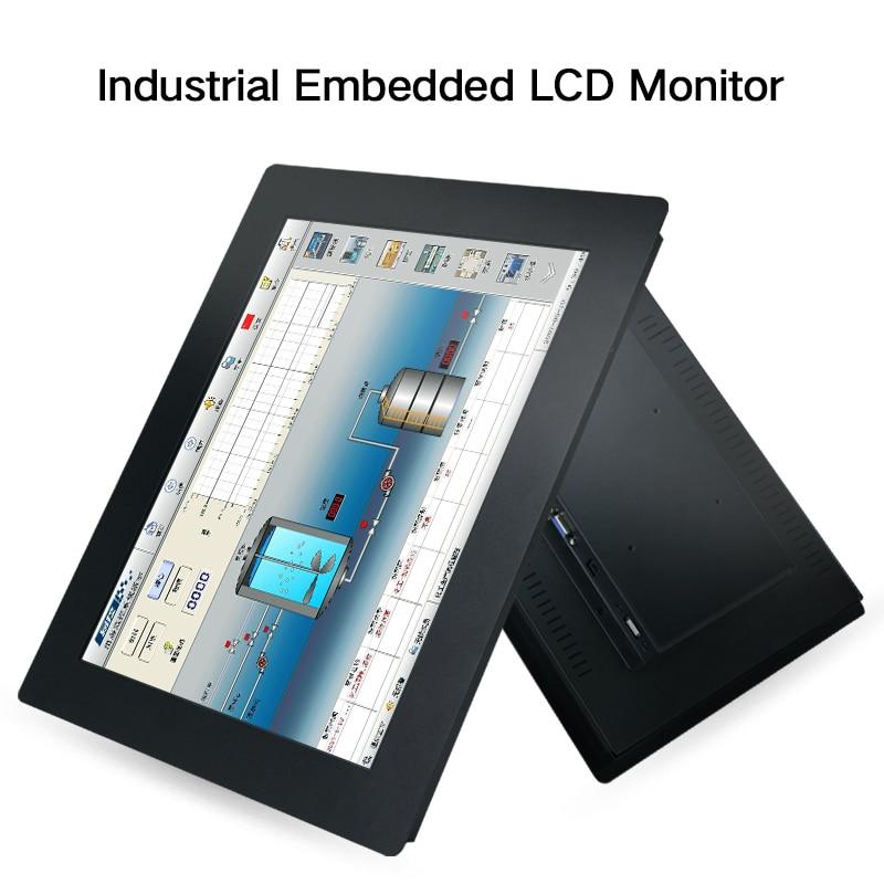 شاشة LCD مقاس 19 21.5 بوصة للكمبيوتر اللوحي ، 23.6 بوصة ، مقاومة USB VGA ، تركيب مضمن