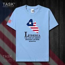 Liberia libérien LBR Monrovia hommes nouveau t-shirt hauts à la mode à manches courtes vêtements de sport équipe nationale été coton t-shirt 50
