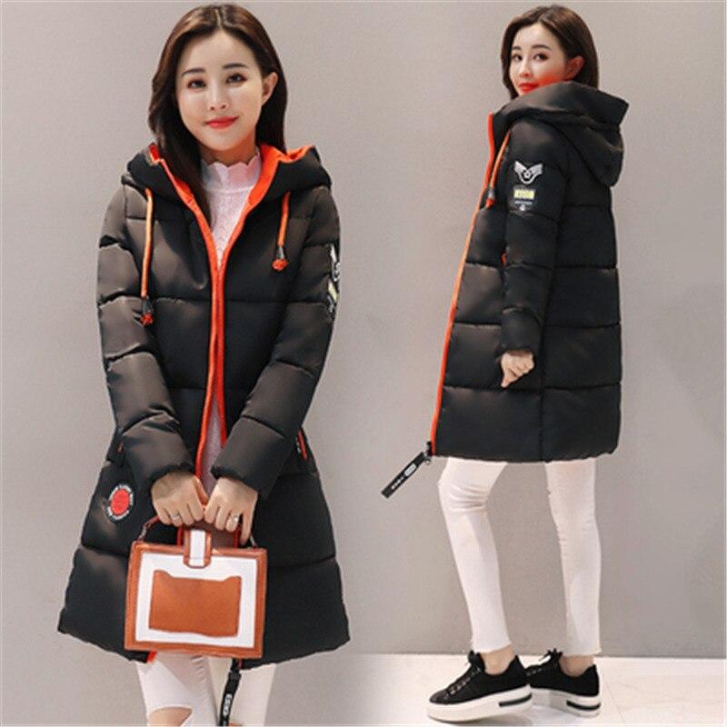 Зимняя женская куртка, новинка, толстая Длинная женская парка большого размера, верхняя одежда с капюшоном, пуховик с хлопковой подкладкой, ...