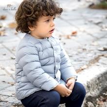 DB20097 dave bella winter baby unisex fashion solid ultra light down coat children 90% white duck do