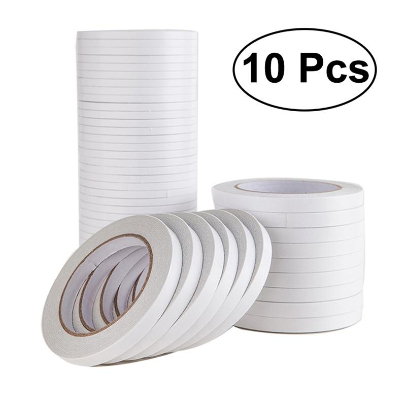 10Pcs Double-Sided Adhesive Tape for Arts Crafts Photography Scrapbooking Gift Wrapping Office Schoo
