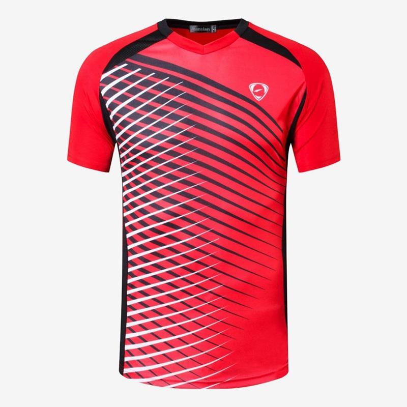 Camiseta de Jean para hombre, camiseta, Camiseta deportiva, de manga corta, para correr, Fitness, entrenamiento, LSL230 rojo