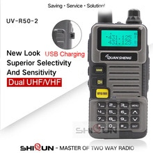 Ham Radio für Jagd UV-R50-2 Quansheng 5W Dual Band VHF UHF 136-174 Mhz/400-520 mhz Walkie Talkie