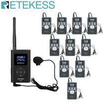 1 Fm-zender FT11 + 10 Fm Radio Ontvanger PR13 Draadloze Voice Transmissie Systeem Voor Guiding Kerk Vergadering Training