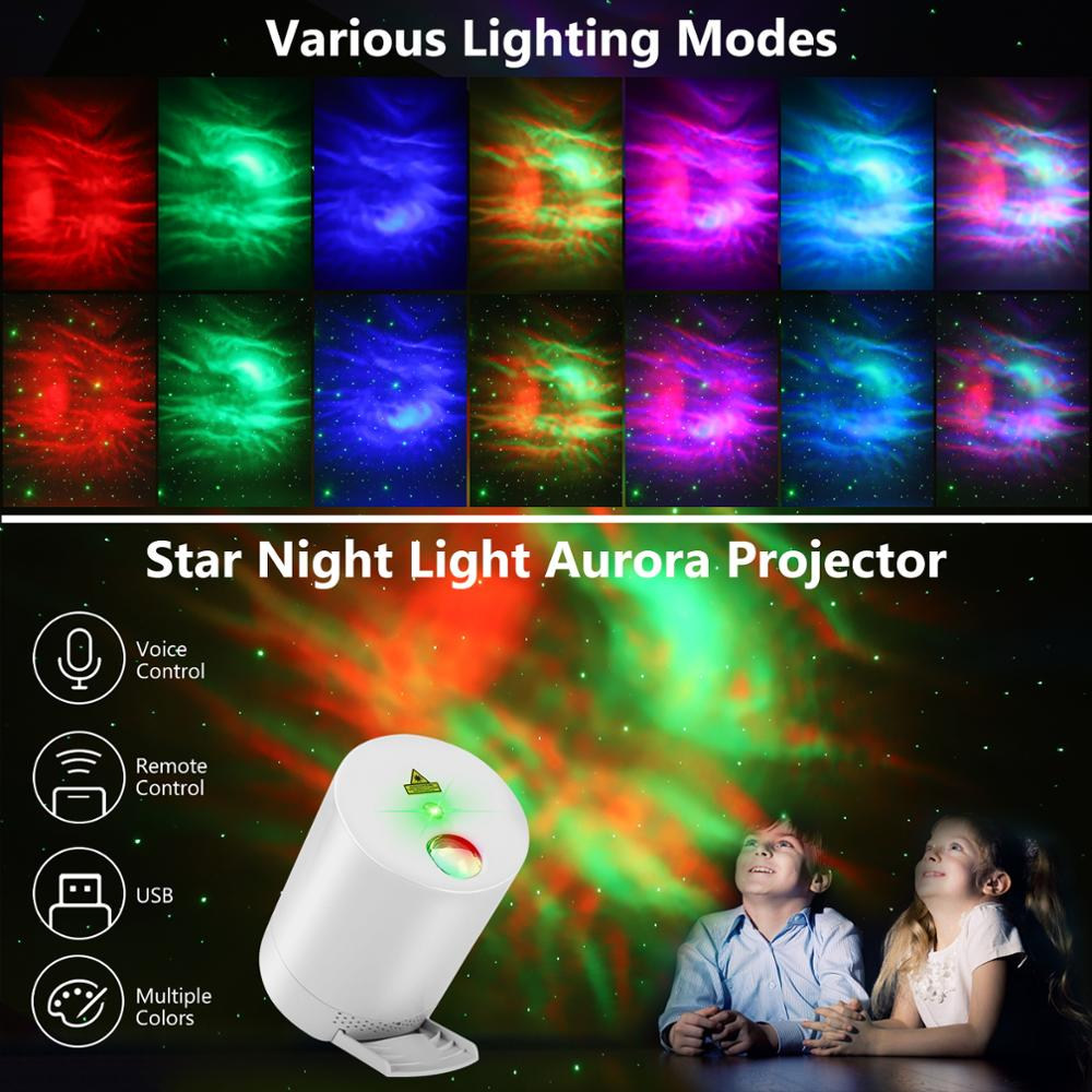 Night Light Starry Sky Projector Water Wave Lamp LED star Rotating Remote Control Bluetooth Bedroom Bedside Lamp enlarge