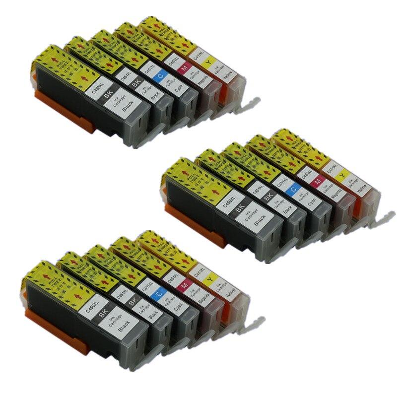 15PK PGI450 450 CLI451 451 Ink Cartridges Compatible For Canon Pixma Pixma Ip7240 MX924 IX6540 IX6840 IP8740 Printers Inkjet