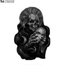 Tri Mishki WCS888 black skull Mexican Art car sticker PVC coloful Decals Motorcycle Accessories sticker