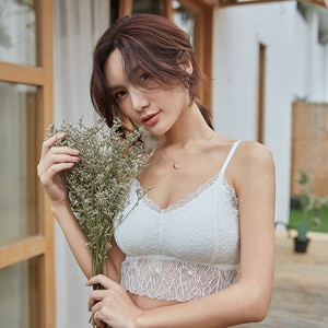 2020 New Style Vest Fairy Lace Beauty Back Sexy Wrap-around V-neck Small Camisole Tube Top Anti-Exposure Underwear Women's