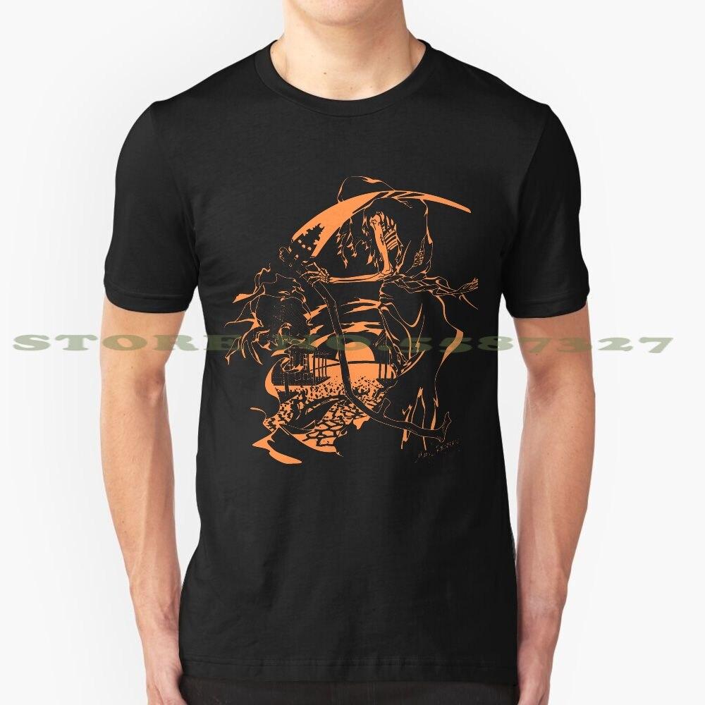 Модная Винтажная футболка с изображением Жнеца Уэста в оранжевом стиле, футболки, крутые, темно-дикие, ковбойские, мертвые, пустыни