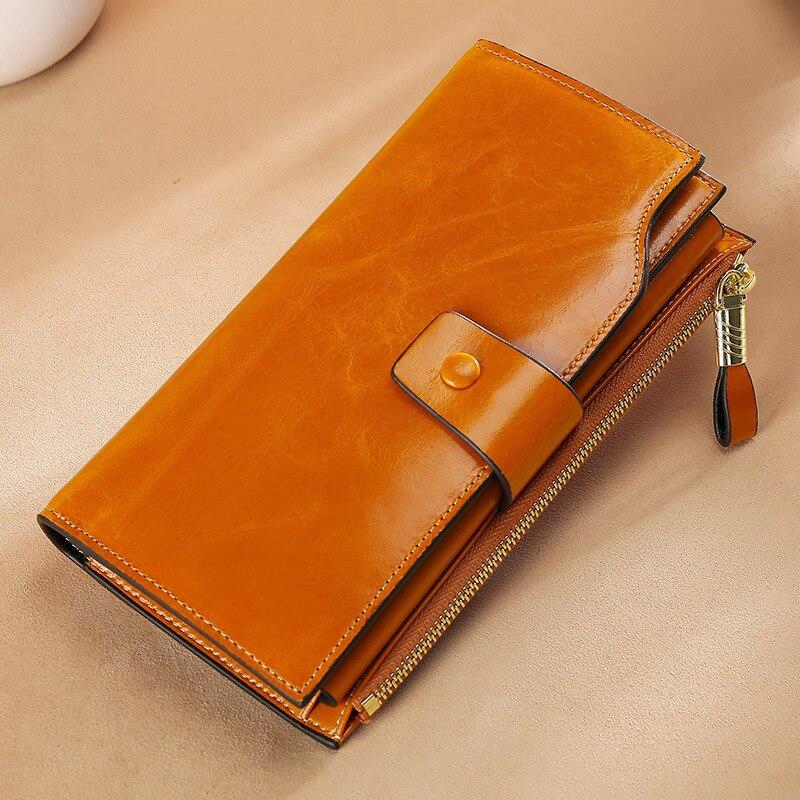 محفظة للسيدات موضة جلدية طويلة عالية الجودة بطاقة ريترو كلاسيكي محفظة للسيدات سحاب محفظة للسيدات