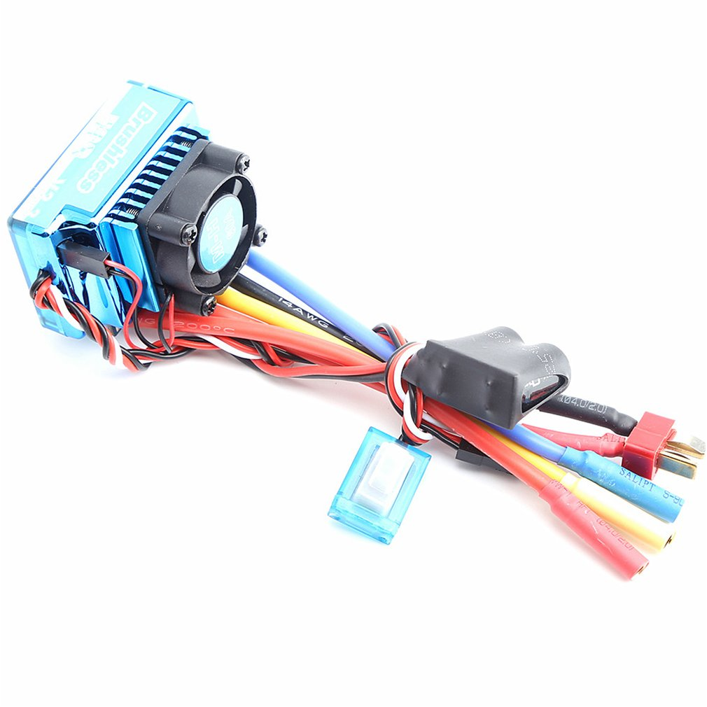 Motor sin escobillas a prueba de agua 3650 3900KV, Control electrónico de velocidad 60A, kit de tarjeta ESC programador para 1/10 RC modelo de camión para coche de juguete