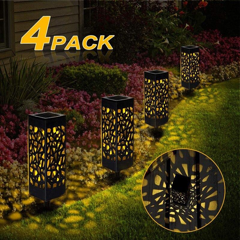Уличные садовые водонепроницаемые светильники на солнечной батарее, ландшафтное освещение для газона, патио, двора, дорожек, светодиодная ...