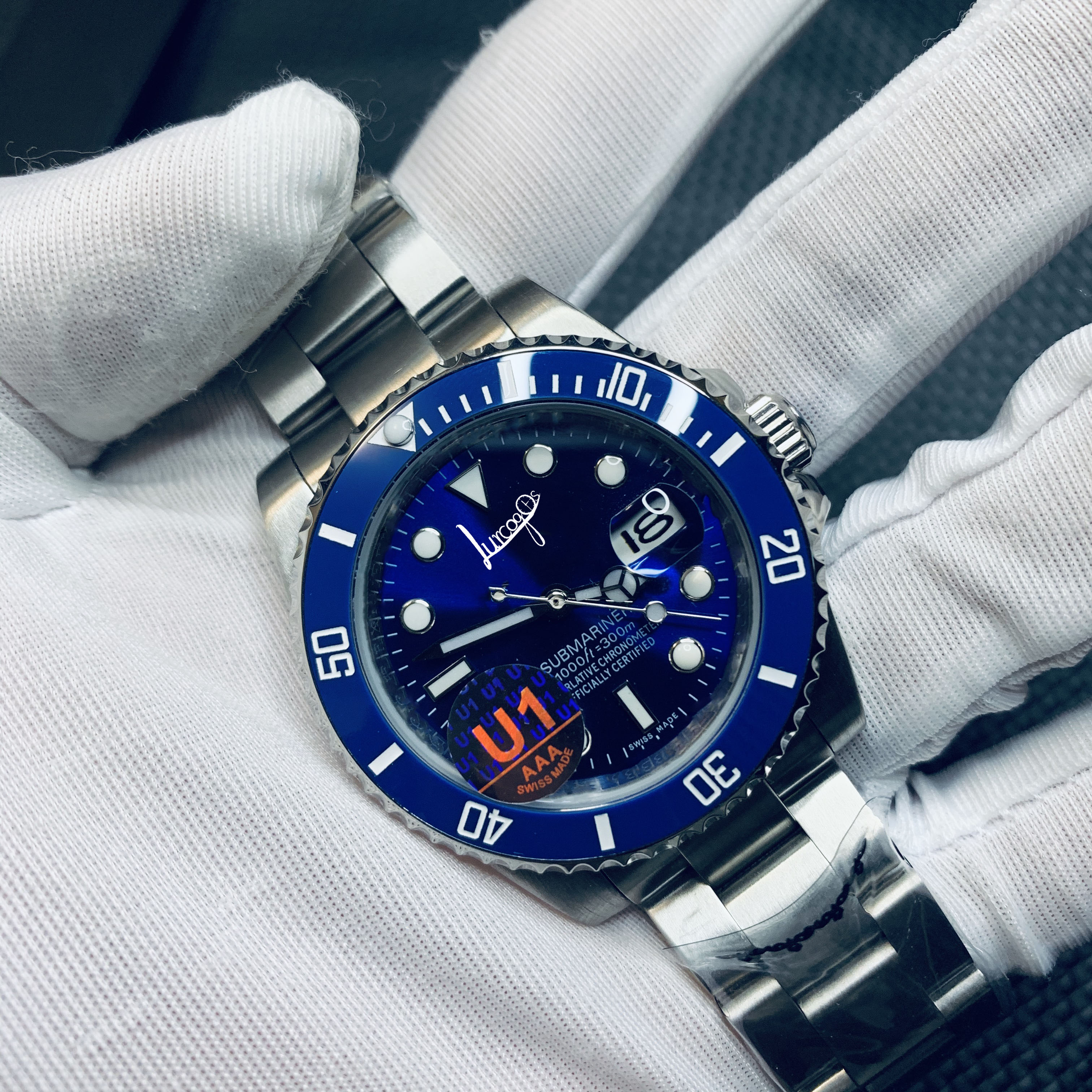 Limited sale SUB AAA watch ceramic bezel sapphire glass mechanical automatic movement blue dial sports jubilee strap