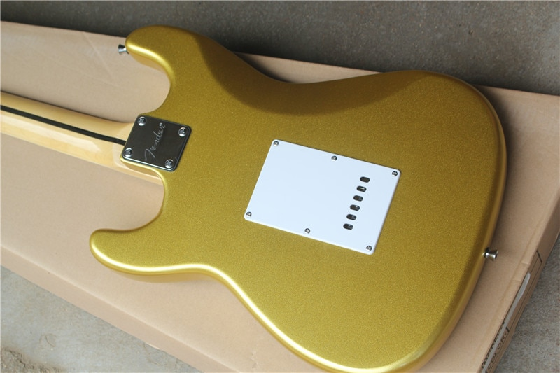 Inventory, Signature 6-string electric guitar, 22 pieces of grooved maple fingerboard, golden body, chrome hardware, free shippi enlarge