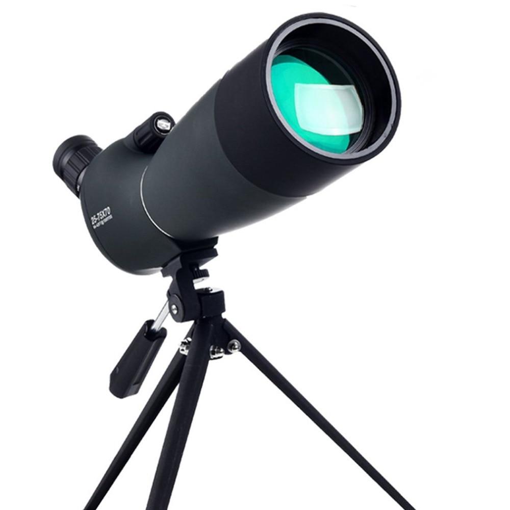 25 7570 angulo spotting scope zoom lente a prova dwaterproof agua com tripe adaptador