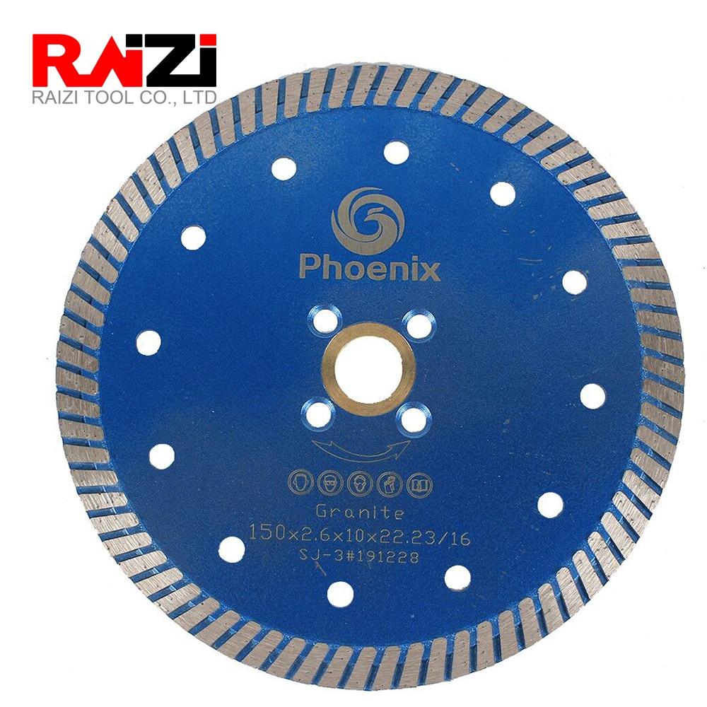 Disco de sierra Raizi Phoenix 125mm/150 Turbo diamante mm para cortar granito, cuarzo, disco de corte de piedra diseñado