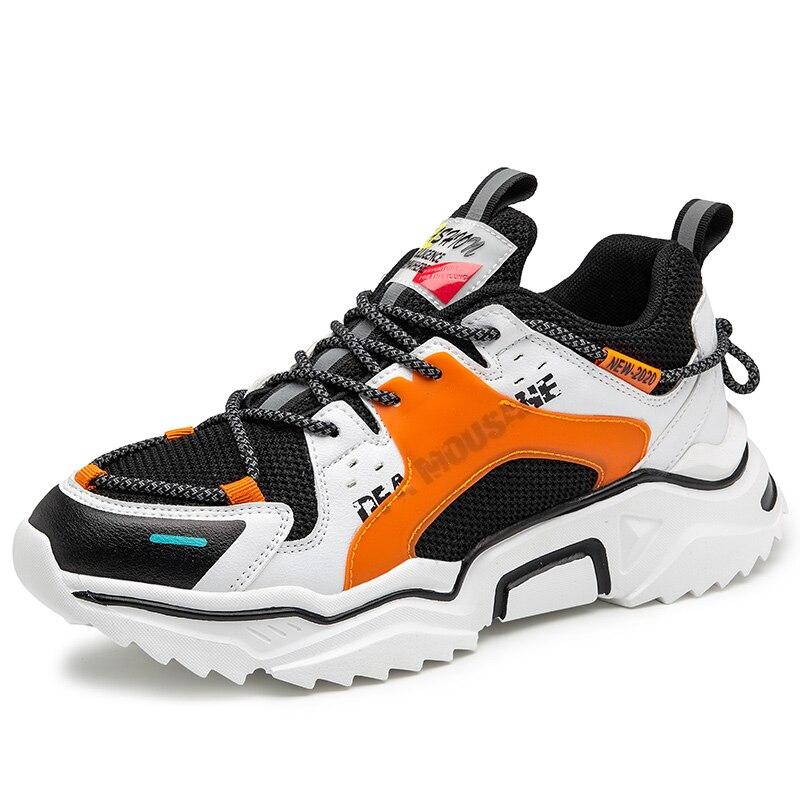 Platform Luminous Sneakers Men Street Trend Sports Jogging Shoes Men Lightweight Comfortable Running Shoes Support Dropshipping