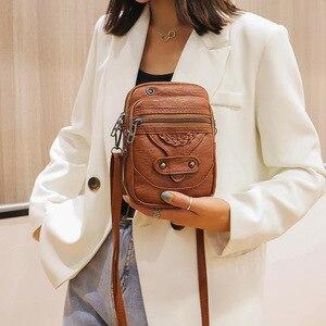2021 New Women Mini Square Bag Female Messenger Crossbody Bag Mobile Phone Bag Change Shoulder Small Designer Handbags