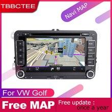 TBBCTEE-lecteur DVD Auto 2 DIN   GPS, Navigation Navi pour Volkswagen Golf MK5 2005 2006 2007 2008, voiture, système de Wifi Android