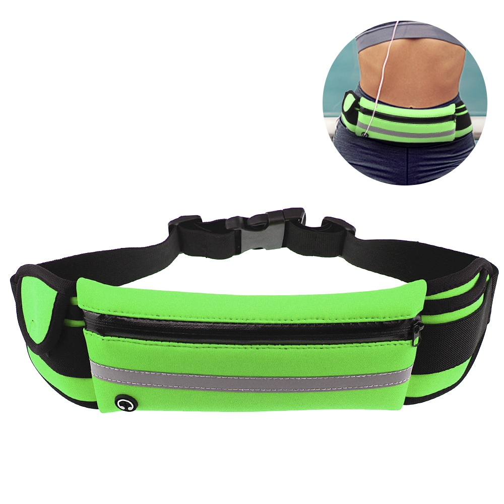 Cinturón de cintura multifuncional, bolsa de cintura Ultra ligera, impermeable para gimnasio, soporte de teléfono móvil, bolsa de cintura, banda para correr