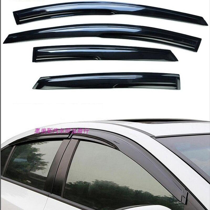 Tommia 4 個窓バイザーシェードベント風雨偏向器ガードカバー用シボレー · スパーク 2004-16