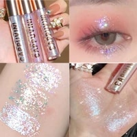 sequin liquid eyeshadow 6 colors shimmer glitter quick drying not easy to fall off eyeliner waterproof lasting party eye makeup