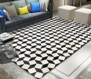 Geometric Style Entrance Doormats Washable Kitchen Floor Stripe Carpet Geometry Printed Black And White Striped Rectangular Mats