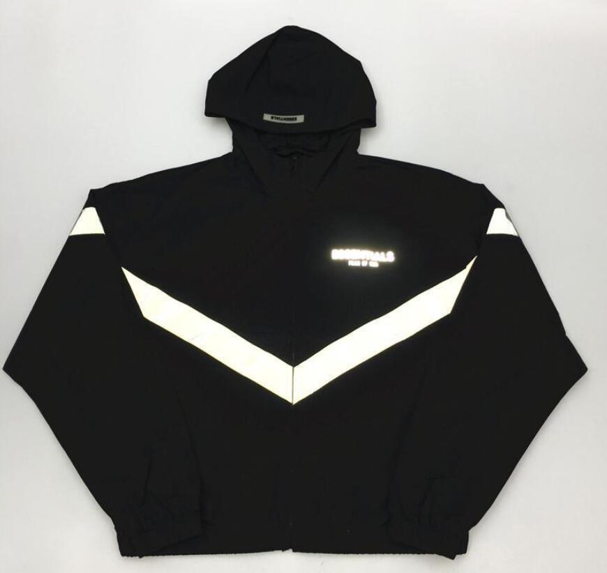 19ss Latest TOP hip hop Justin Bieber fog ESSENTIALS 3M Men Women 6TH zipper FG Jacket Fashion Street attire Coat Cotton Black
