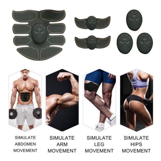 YOUKE impulso promoción ABS, Estimulador muscular de pulso eléctrico, dispositivo de entrenamiento muscular perezoso, instrumento Universal de plástico adelgazante