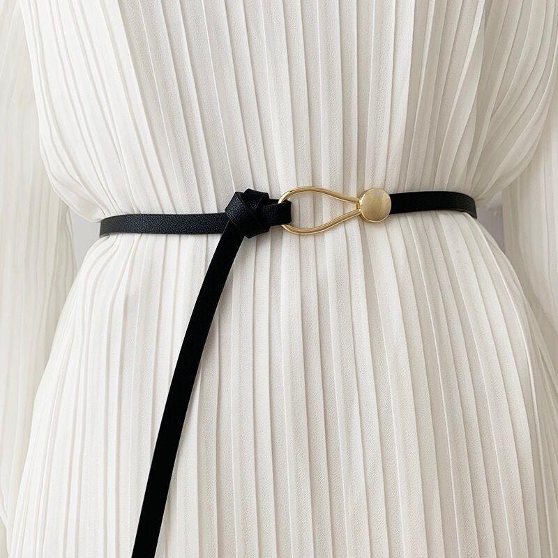 Fashion Dress Belts for Women Geometry Waist Elastic Belts Cummerbund Strap Famale Triangle Buckle C